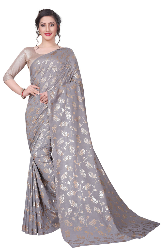 Graceful Grey Nazmin Designer Saree