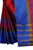 Preferable Red And Blue Pure Linen Designer saree