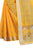 Fabulous Yellow Pure Linen Designer Saree