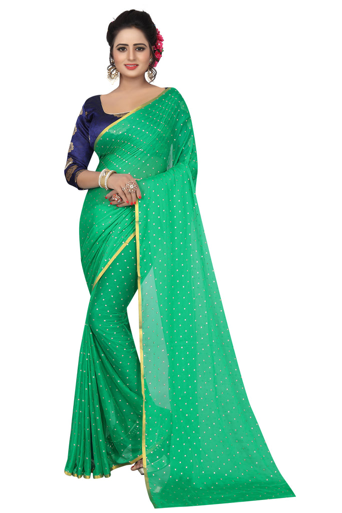 Fancy Light Green Tapki Silk Designer Saree
