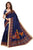 Allegorical Navy Blue Kalamkari Khadi Silk Saree