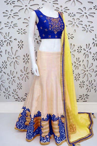 Attractive Blue Tapeta Silk Designer Lehnga Choli