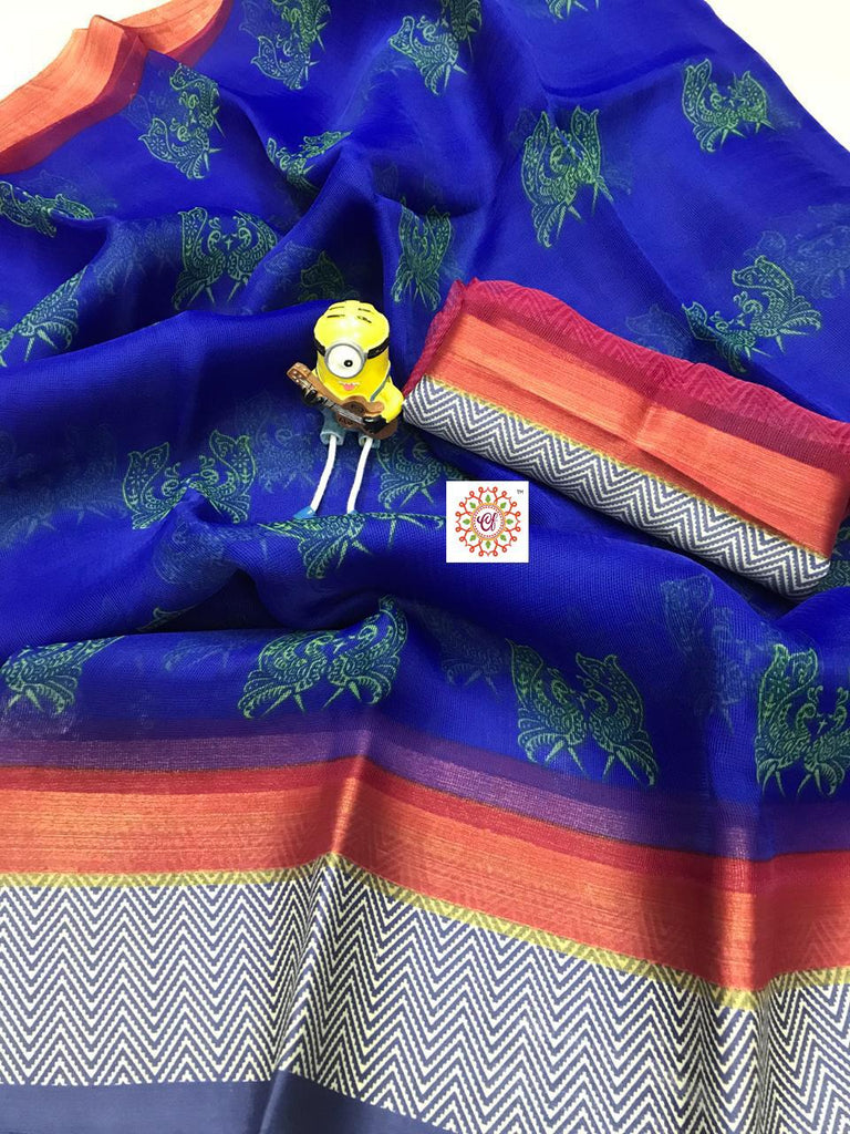 Blooming Navy Blue Linen Silk Beautiful Saree With Rich Look Pallu
