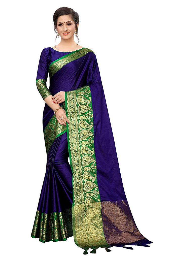 Preferable Blue  Art Silk With Printed Designer Saree
