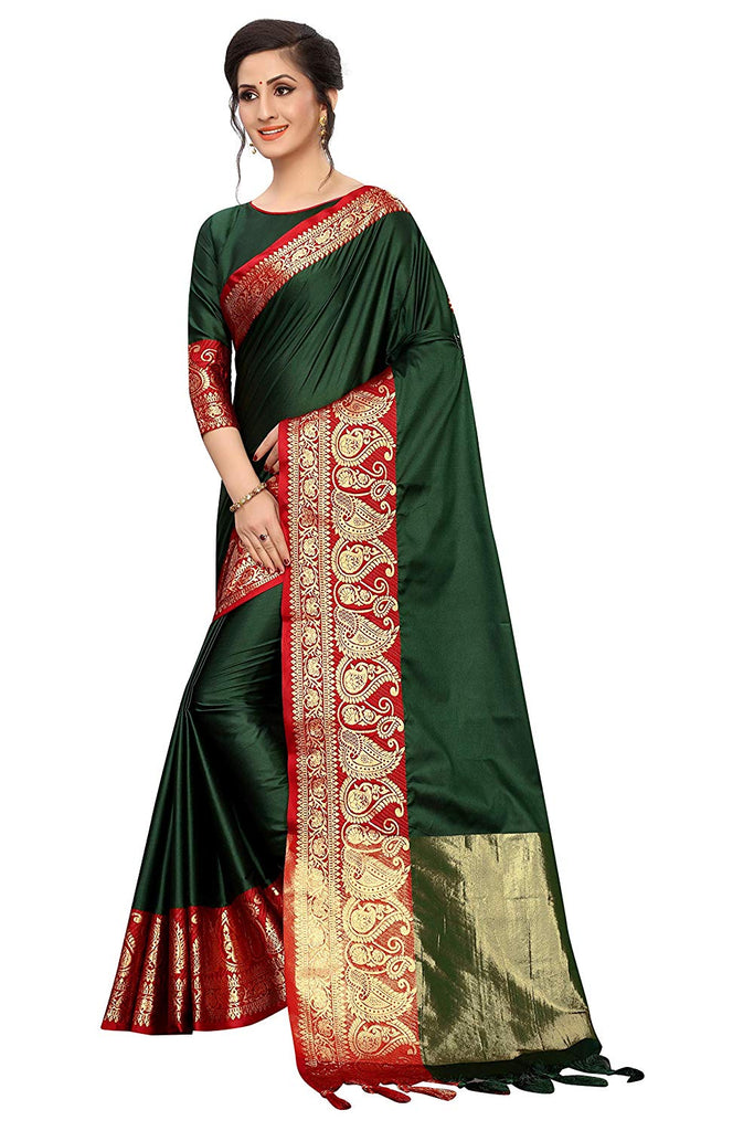 Fantastic Mehendi Art Silk With Printed Designer Saree