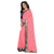 Prodigious Peach Georgette Silk With Embroidery Less Border Designer Saree