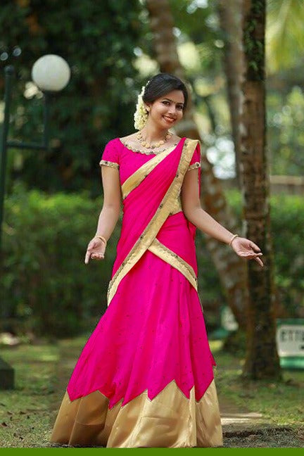 Arresting   Color Pink Tapeta Silk Fancy Lehnga