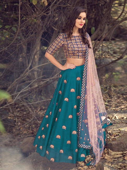 Captivating Color alti   Banglori Silk With Emboidery Work Designer  Lehnga