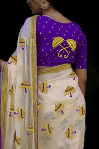 Ethnic Color Purple  Chanderi Silk Fancy Saree
