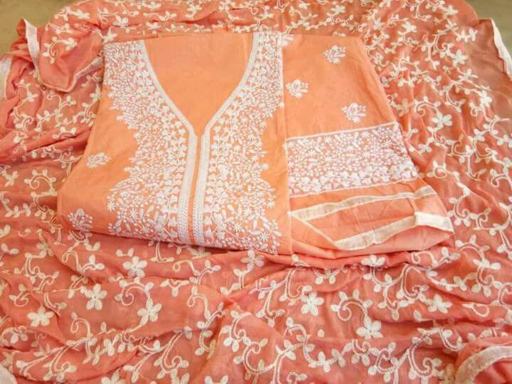 Groovy Color Orange cotton indo fancy salwar suit