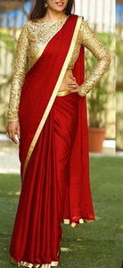Spectacular Color Red  Sanna Silk Fancy Saree