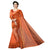 Fantastic Orange Cotton Silk Designer Saree