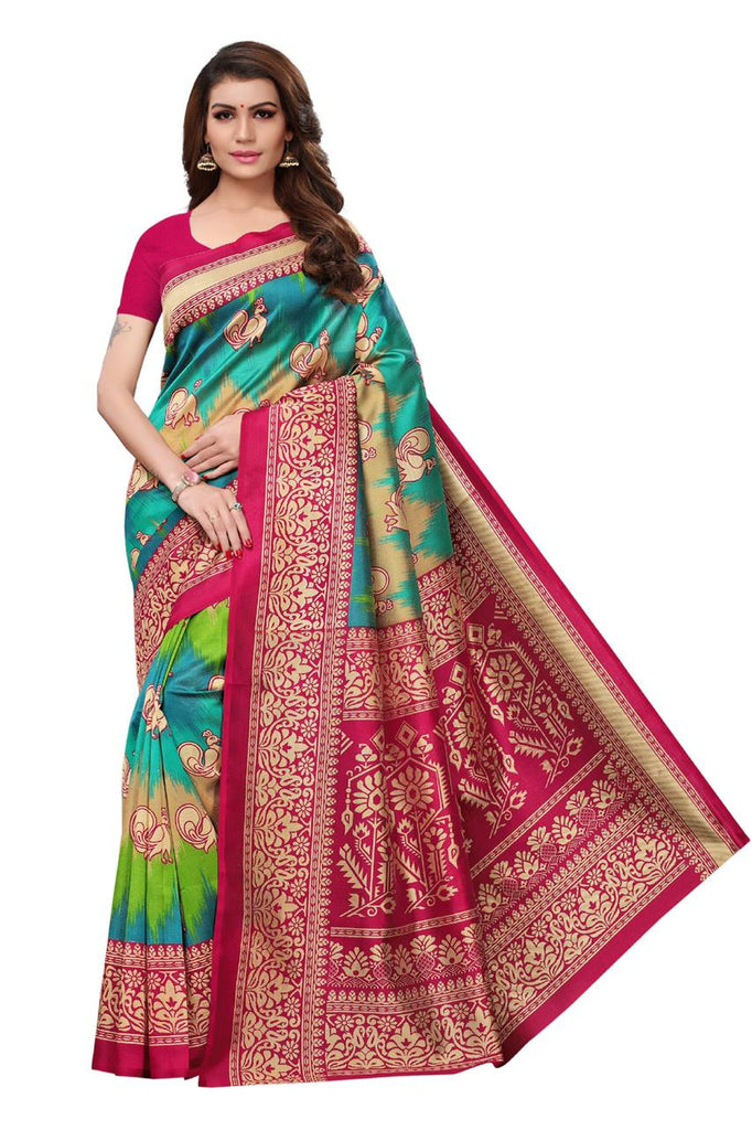 Sensational Red Saanvika art silk Designer Saree