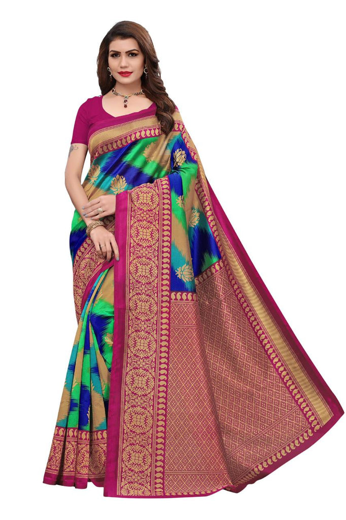 Mroon & Green Saanvika Art Silk Designer Saree