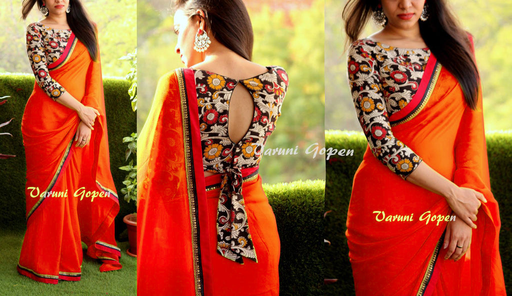 Sophisticated Georgatte Cotton Print Printed Less Saree