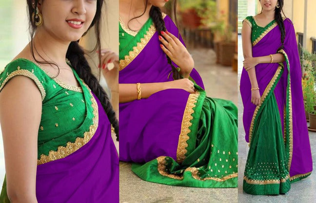 Captivating Georgatte Benglori Silk With Work Embroidery Less Saree