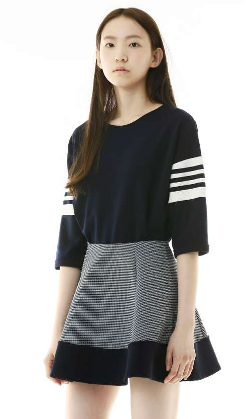 Navy striped top by Outstanding Ordinary