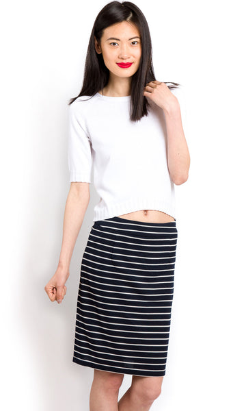 Clean striped skirt