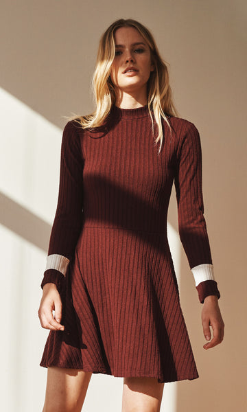 Wednesday ribbed skater dress