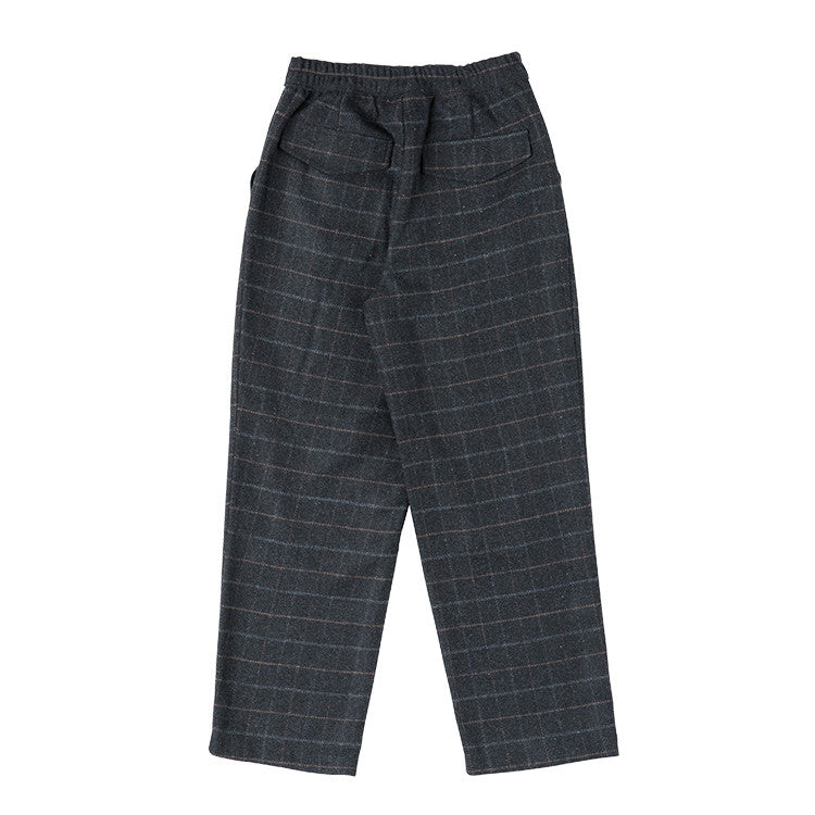 Checked tailored grey trousers