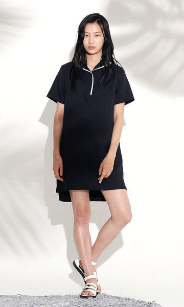 Sailor collar navy dress