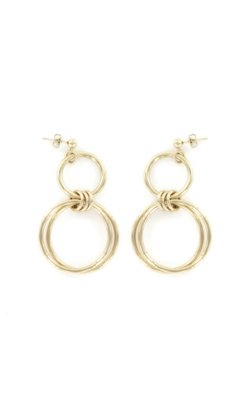 Alice gold earrings