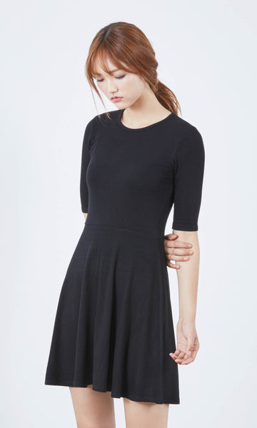 Sillim ribbed skater dress