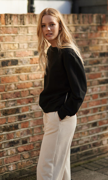 Hannam cropped zipped sweater black