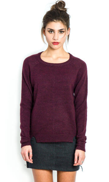 Easy deep burgundy jumper