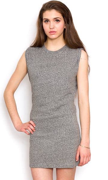 Edgy little grey dress