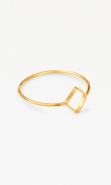 L.A. square gold ring