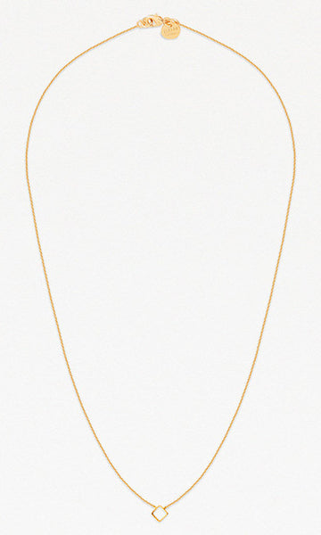 L.A. square gold pendant necklace