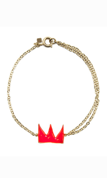 Little red crown gold bracelet
