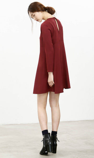 Oh Easy burgundy a-line dress