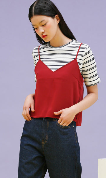 Relaxed wine tank top