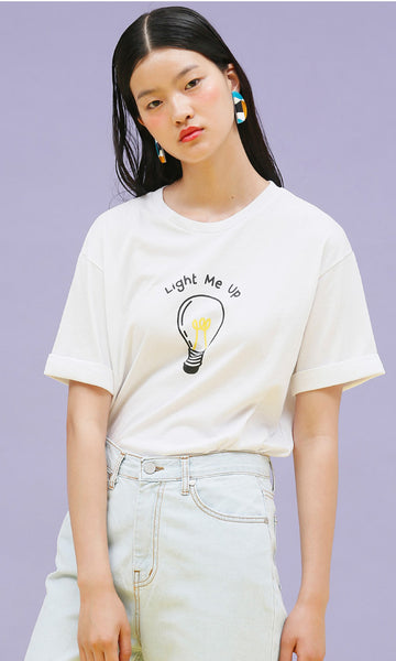 Lightbulb white t-shirt