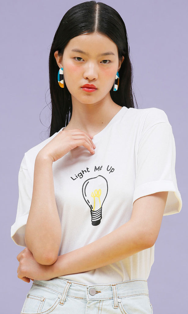Lightbulb black t-shirt