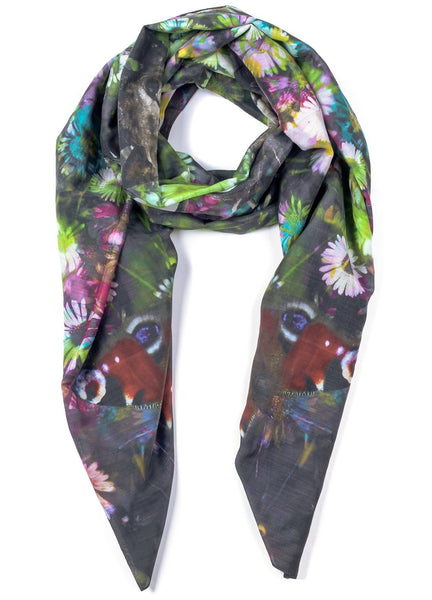 All is wild silk blend scarf