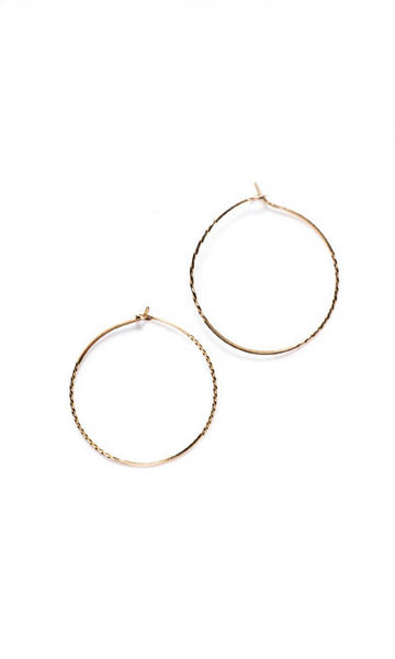 Double twisted hoops gold