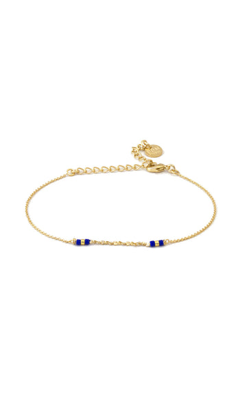 Hindi gold bracelet dark blue