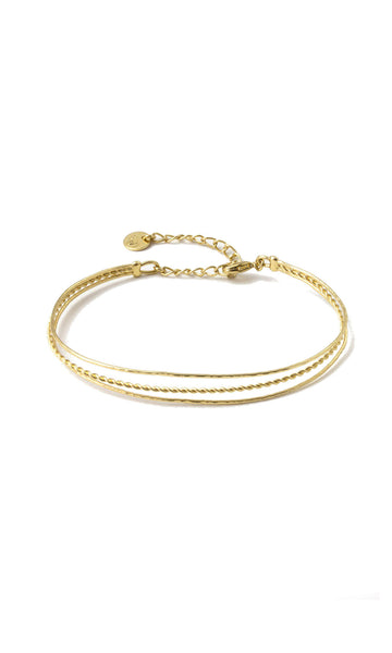 Hindi twisted gold bangle