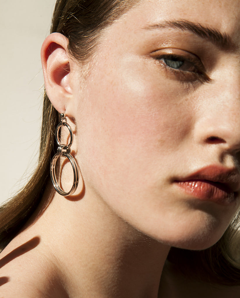 Alice palladium earrings