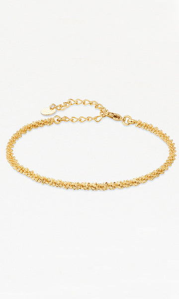Origami Gold tight chain bracelet