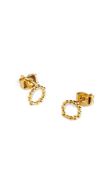Queen gold earrings