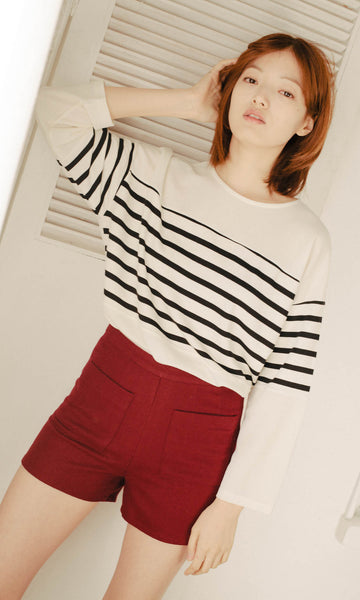 Truth top with striped panel
