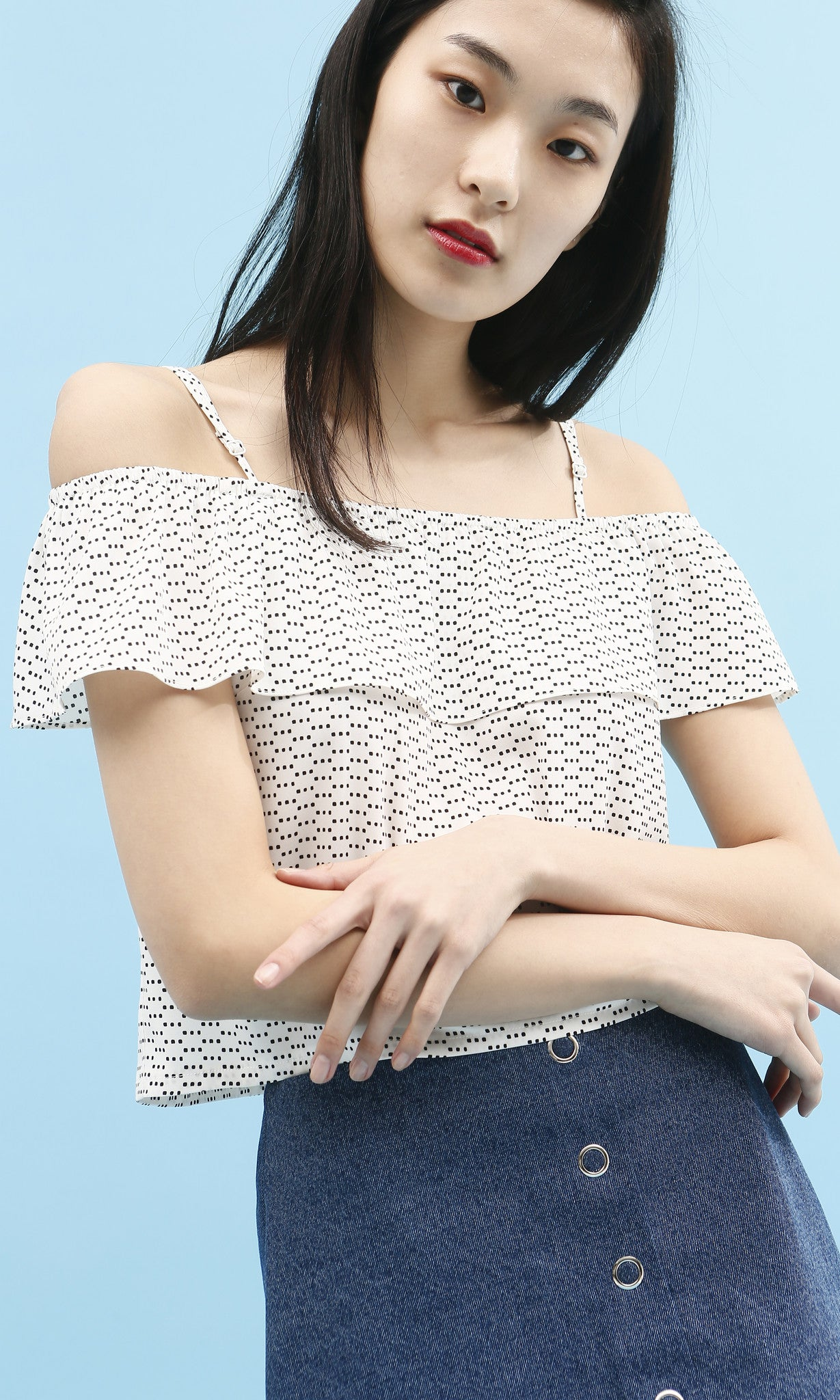 Lupita off shoulder top