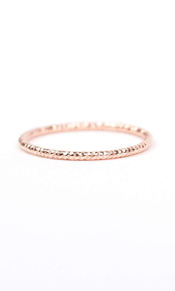 Sparkling ring rose gold