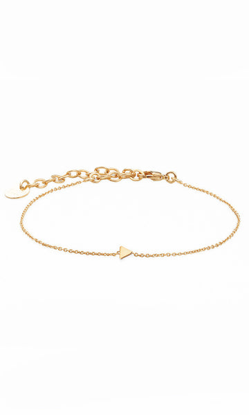 Gold bracelet with tiny triangle