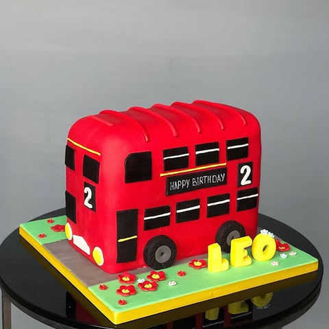 Big Red Bus Fondant Cake (From £180)
