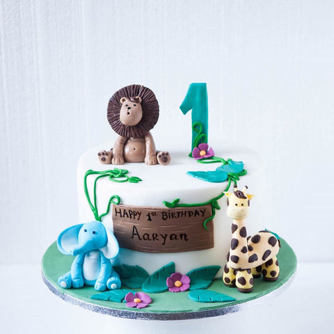 Fondant Safari Cake (From £160)